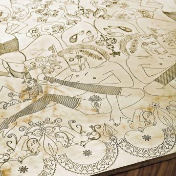 Burlesque Table Detail