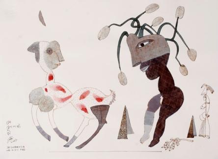 Jai Zharotia's pen & ink drawings