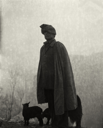 """Man and Sheep"" (2006) Silver gelatin print, several sizes © Courtesy of M97 Gallery 