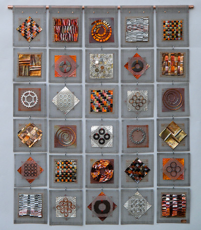 Frances Solar's metal basketry & wall art