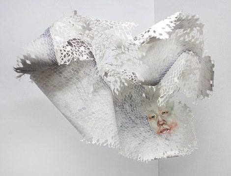Timothy H Lee's paper sculpture / painting