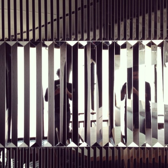 Three dimensional wall detail in one of our recent projects #openingsoon #lab100 #reflection #metal