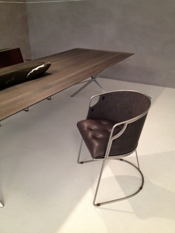 East Bay Chair & Oxidized Oak Table by Jim Zivic