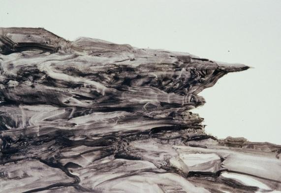 Coastline Cliff Sketch, 2005.Acrylic on paper. 27.5cm x 39.5cm.