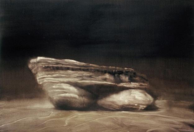 Coastal Rock Portrait III, 2005. Oil on paper. 74cm x 109cm.