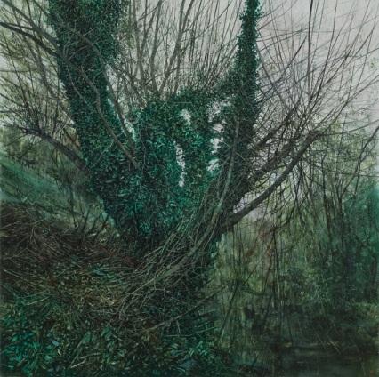 Overgrown, 2009. Oil on canvas. 100cm x 100cm.