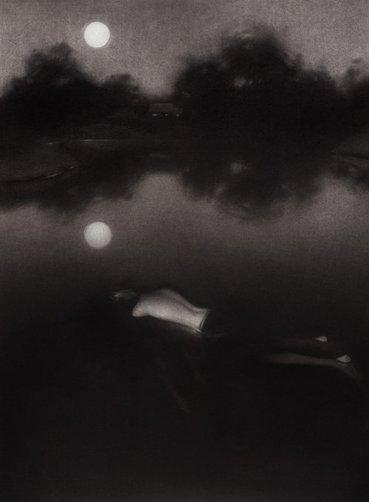 "SLUMBER -graphite/carbon, 11 x 17"", 2012"