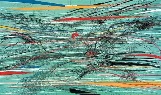Julie Mehretu's paintings
