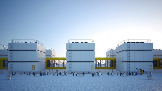 Concurso | Estação Comandante Ferraz Antártica Premiação: ★3º Colocado | IAB-RJ Localização: Antártica Área: 3.200,00 m² Ano: 2013 Colaboração com Atria arquitetos