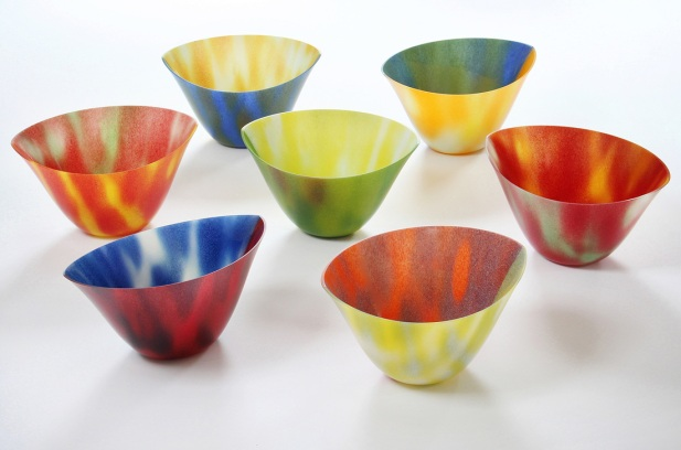 Camille Jacobs' glass bowls