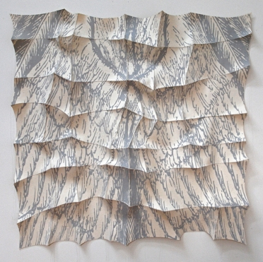 "'nalgae'  2012 43"" x 44"" x 5"" industrial felt, digitally engineered image, silkscreen printing, hand stitching"