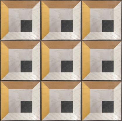 Antonino design in 9 tile Repeat (Standard size 12x12 Engineered Oak Wood tile) #MirthStudio #AntoninoBuzzetta