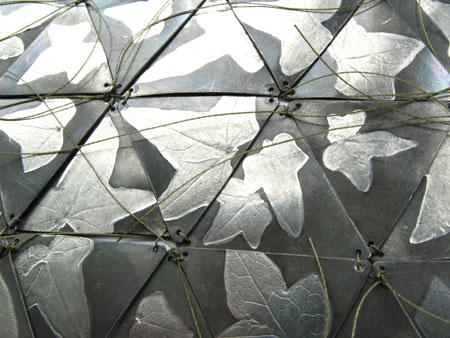 Helen Edwards' metal, porcelain & paper fabrics