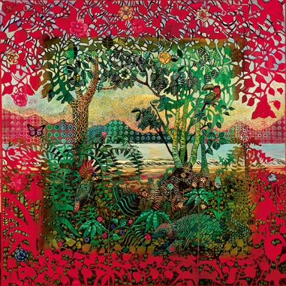 The lavishly coloured paintings of Mexican artist, Alfredo Arreguin ...