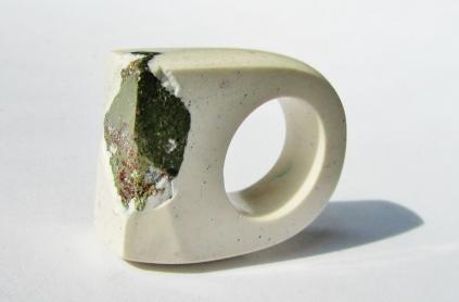 jade mellor hewn ring white peacock ore.JPG