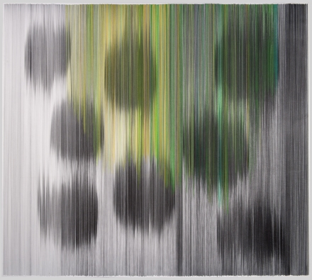 parallel 27 (green) 2011 graphite and colored pencilon cotton mat board 58 by 51 inches Private Collection, Kansas City, Missouri