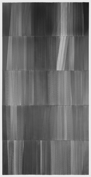 fold and unfold 04 2015 graphite on mat board 60 inches by 120 inches