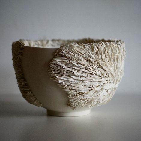 Happy weekend everyone! . . . . #ceramics #porcelain #texture #bowl #commission #growth #organic #form #ceramica #contemporarycraft #livefolk #ceramique #keramik #craft #design #thestratfordgallery