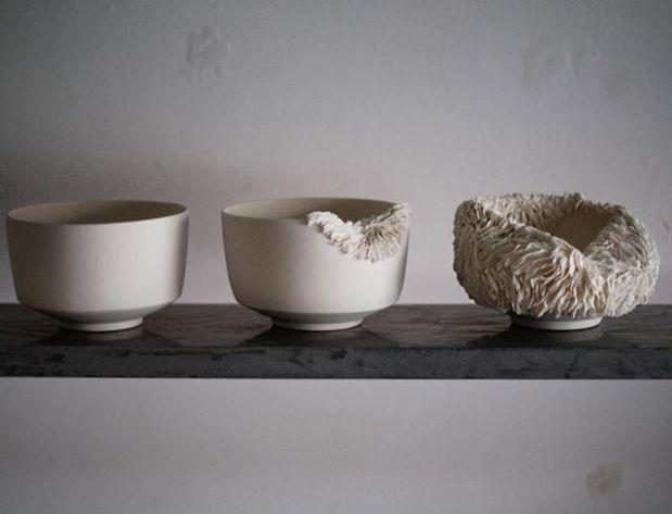 Growing/decaying. . . . . . #growth #texture #decay #ceramics #teabowl #bowl #porcelain #livefolk #ceramica #ceramique #organic #interiordesign #shelfie