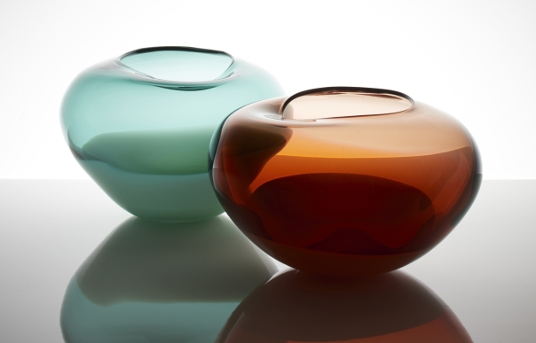 Cinnamon and Jade glass bowls
